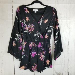 Arizona Jean Co Romper Sz S Black Pink Jumpsuit